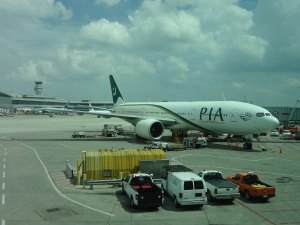 PIA plane at Toronto Pearson International just before the take off.